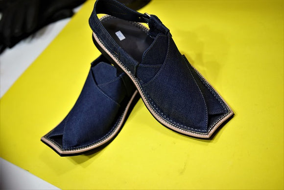Jeans Style Charsadda  Shareware Chappal For Men-501 - Saamaan.Pk