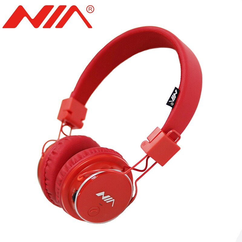 NIA Q8 Headphone Over-The-Ear Bluetooth Headphones with Call function, FM Radio, AUX/Micro SD - Saamaan.Pk