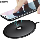 Baseus 10W QI Wireless Charger For iPhone X 8 Donut Fast Wireless Charging Pad For Samsung S9 S8 S7 Note 8 Wirless USB Charger. - Saamaan.Pk