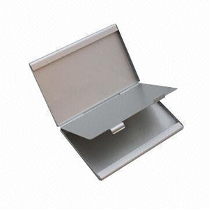 Business Card Holder Titanium & Stainless Steel Business Card Case Holders for Women and Men,Unisex Metal Business Name Cards Holder/Organizer Matte Black - Saamaan.Pk