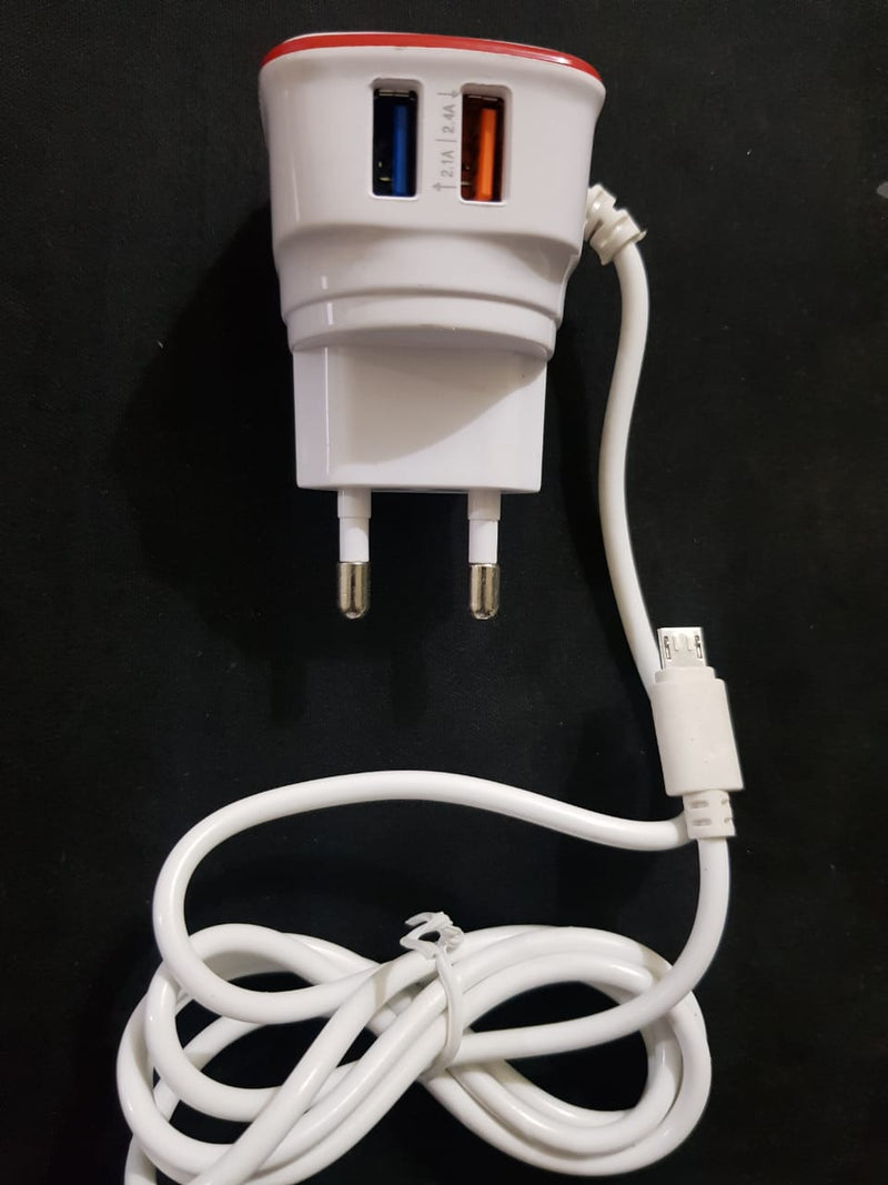 Dual USB Wall Charger Puridi 2 ports with Micro-USB Cable Fast Charger