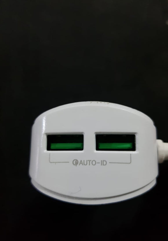 Qualcomm Charger 3.0 AutoID 2 Output Ports Fast Charger Multiple Protection