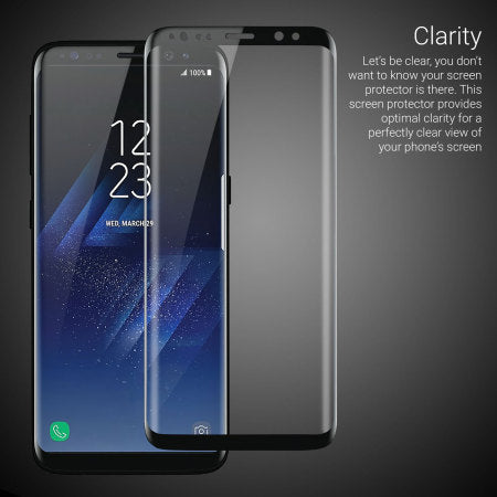 Galaxy S8+ Screen Protector, Wesoo Tempered Glass Curved Edge Full Coverage 3D Screen Protector for Samsung Galaxy S8+ Plus (6.2 inch) - Saamaan.Pk