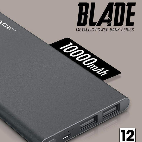Space Blade 10000mAh Power Bank Metal Body - 6 Months Warranty - Saamaan.Pk