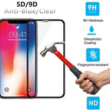 iPhone XR 6.1 9D Curved Edge 9H Tempered Glass Screen Protector - Saamaan.Pk