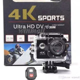 4K Water Proof WiFi Ultra-HD Sports Action Camera - Black - Saamaan.Pk