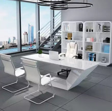 Load image into Gallery viewer, Minimalista white boss table - Furniture Park