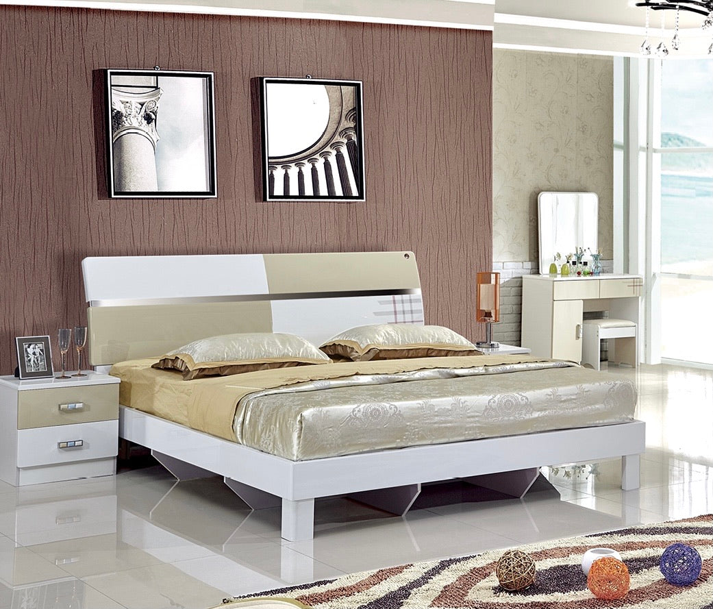 Four shots hydraulic storage wooden bed