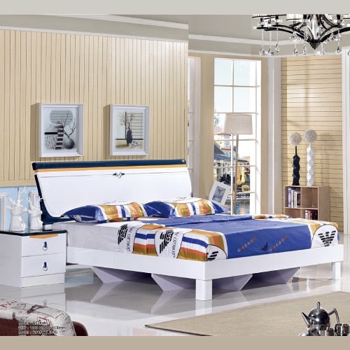 king size bed with hydraulic storage white metallic paint