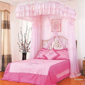 pink mosquito net furniture park