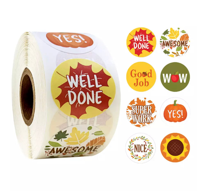 Autumn Encouragement Sticker Roll