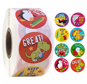 Cartoon Encouragement Sticker Roll
