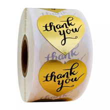 "Load image into Gallery viewer, Gold ""Thank You"" Sticker Roll"