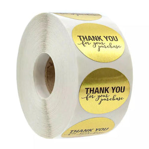 "Gold ""Thank You"" Sticker Roll"