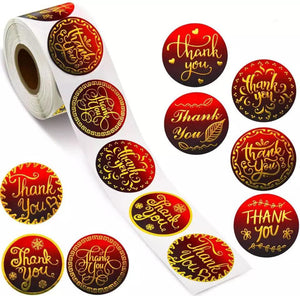 """Thank You"" Sticker Roll"