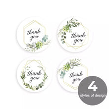 "Load image into Gallery viewer, Floral ""Thank You"" Sticker Roll"
