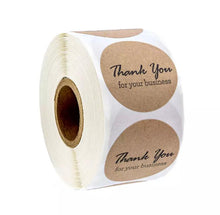 "Load image into Gallery viewer, Kraft ""Thank You"" Sticker Roll"