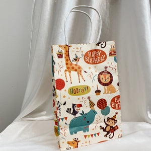 "Animal ""Happy Birthday"" Gift Bag (5pcs)"