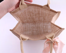 Load image into Gallery viewer, Customised Burlap Tote Bag