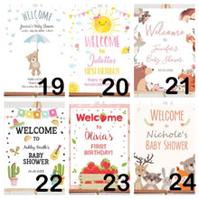 Load image into Gallery viewer, Customised Birthday Welcome Signage