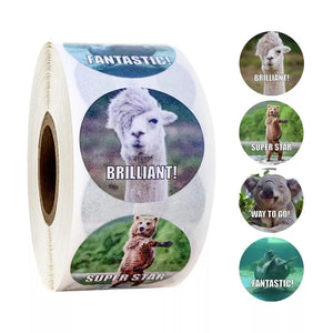 Animal Encouragement Sticker Roll