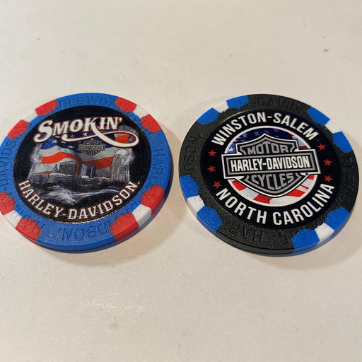American Flag Poker Chip