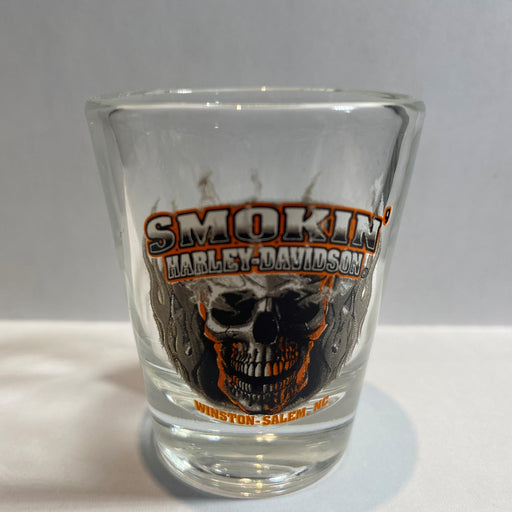 Short Shot Glass, Clear Skull