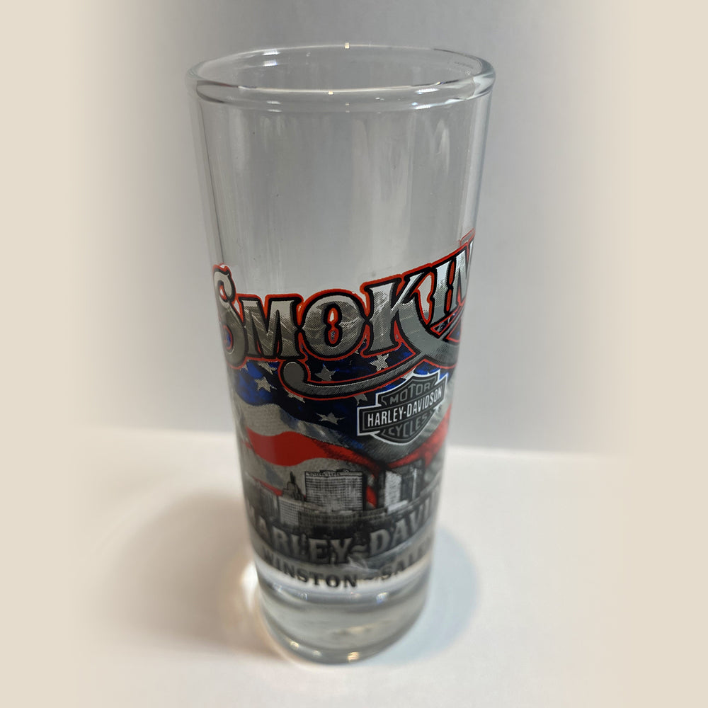 Tall Clear Shot Glass, City Scene