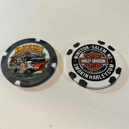 Barn and Hot Rod Scene Poker Chip