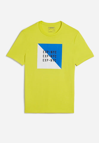 EXP nyc neon graphic t-shirt
