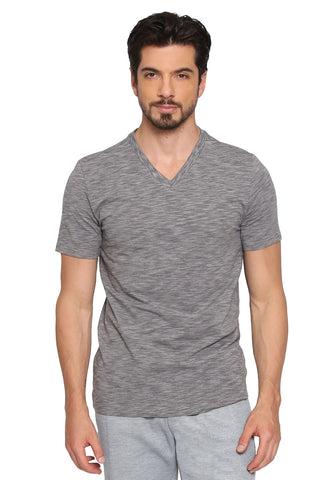 Slim Stretch Space Dyed V-Neck T-Shirt