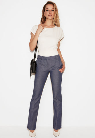 Mid Rise Barely Boot Clumnist Pant