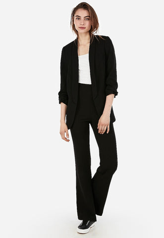 super high waisted pull-on flare pant