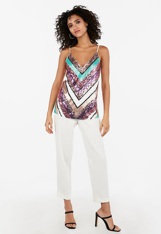 chevron sequin cami