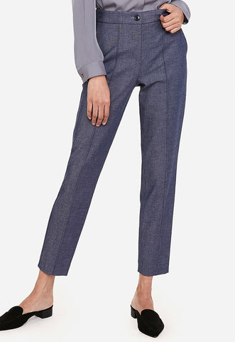 high waisted seamed pintuck ankle pant
