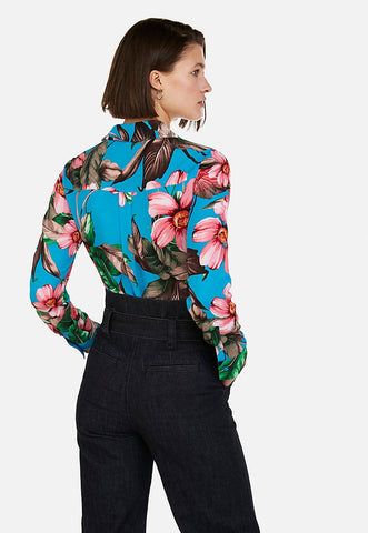 floral slim fit portofino shirt