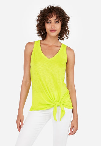 express one eleven tie front easy tank