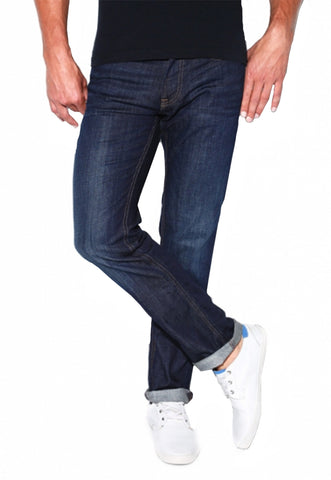 Slim Straight Stretch Dark Wash Jeans