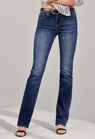 mid rise stretch barely boot jeans