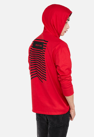 brand that unites long sleeve graphic hoodie