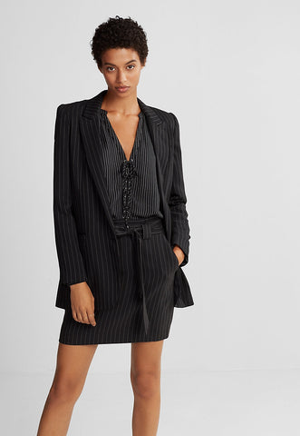 Ticking Stripe Boyfriend Jacket