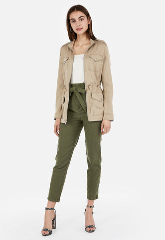 four pocket military twill jacket
