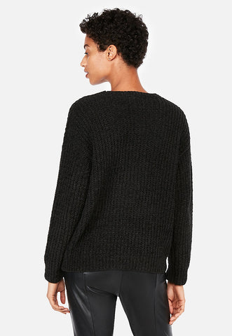 cozy chenille shaker knit v-neck sweater