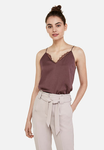 lace neck downtown cami
