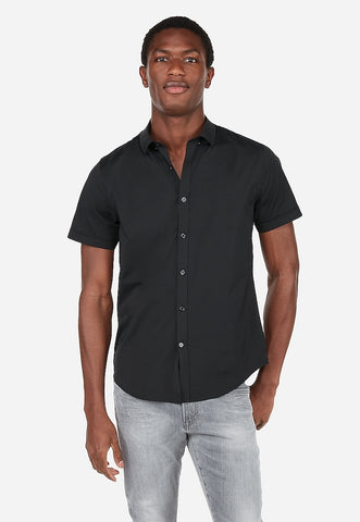 Slim Wrinkle-Resistant Button-Down Short Sleeve Performance Shirt