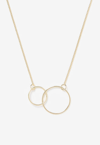 Interlocking Metal Circle Necklace