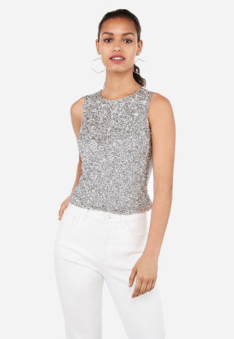 Metallic Embellished Tank