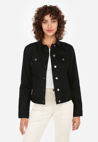 Black Trucker Jacket