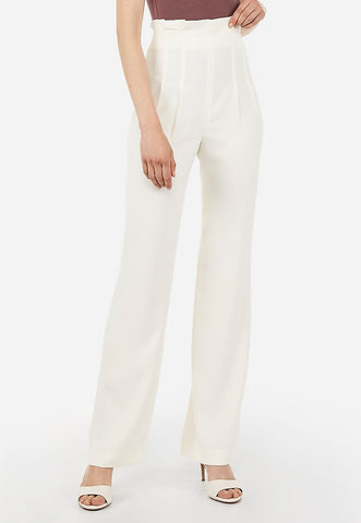 High Waisted Ruffle Top Wide Leg Pant