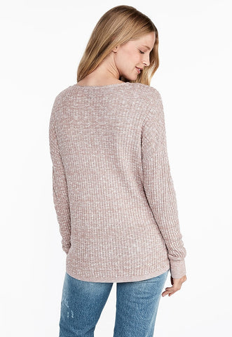Wrap Front Tunic Sweater